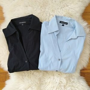 Express V Neck Button Down Career Shirt Bundle M